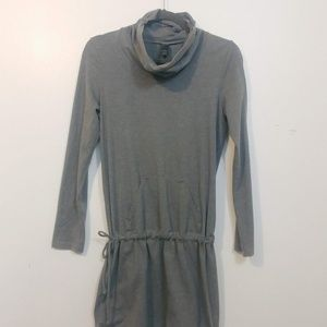 Prana cowl-neck long sleeve mini dress
